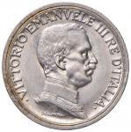Savoy Coins; Vittorio Emanuele III (1900-1946) 2 Lire 1916 - Nomisma 1165 AG Graffietti al D/ - FDC;