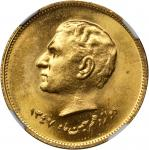 IRAN. Epidemic of 1831 Gold Medal, SH 1347 (1968). NGC MEDAL MS-65.