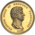 GRANDE-BRETAGNE Georges III (1760-1820). Médaille d'Or, Royal Bath and West of England Society 1802,