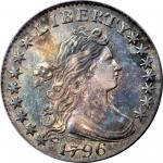 1796 Draped Bust Dime. JR-6. Rarity-3. AU-50 (PCGS). CAC.