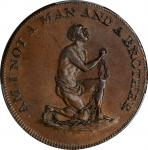 Great Britain--Middlesex. Undated (1790s) Am I Not a Man and a Brother Halfpenny Token. D&H-1037. Co