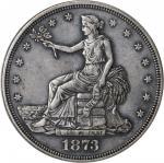 1873-CC Trade Dollar. EF-40 (PCGS).
