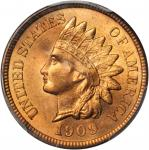 1909 Indian Cent. MS-65 RD (PCGS). CAC.