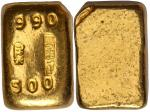 。Republican era, Jin He, 5 mace gold nugget, circulated around 1940 to 1950s, inscribed Chinese char