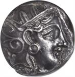 ATTICA. Athens. AR Tetradrachm (17.17 gms), ca. 393-294 B.C. NGC Ch AU, Strike: 5/5 Surface: 4/5. Li