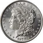 1878 Morgan Silver Dollar. 7/8 Tailfeathers. VAM-37. Strong, 7/4 Tailfeathers. MS-65 (PCGS).