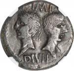 AUGUSTUS, 27 B.C.- A.D. 14. AE Dupondius (9.88 gms), Nemausus Mint, ca. A.D. 10-14.NGC Ch VF, Strik
