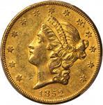 1852-O Liberty Head Double Eagle. AU-58 (PCGS). CAC.