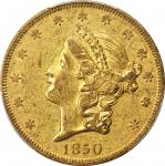 1850-O Liberty Head Double Eagle. Winter-1. EF-45 (PCGS).