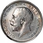 Great Britain, silver 1/2 crown, 1914, 1919, 1928, 1932, 1933, 1938, 1944 and 1945, graded Zhong Qia