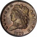 1829 Classic Head Half Cent. C-1, the only known dies. Rarity-1. MS-66 RB (PCGS). CAC. OGH.