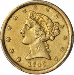 1840-O Liberty Half Eagle. AU Details--Tooled (PCGS).