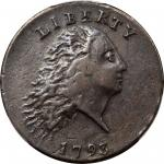 1793 Flowing Hair Cent. Chain Reverse. S-3. Rarity-3-. AMERICA, Without Periods. VF-35 (PCGS).