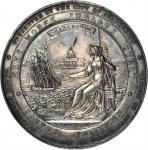 Undated (Circa 1848) Charleston Company of Volunteers Medal. Silver. 56 mm. 74.6 grams. By Charles C