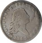 1795 Flowing Hair Half Dollar. O-106, T-30. Rarity-6. Two Leaves. VG-8 (PCGS).