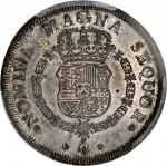 Spanish New World (Guatemala?). (1746-59) uniface restrike of an 8 Escudos reverse. Silver. SP-64 (P