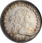 1796 Draped Bust Silver Dollar. BB-65, B-5. Rarity-4. Large Date, Small Letters. VF-30 (PCGS).