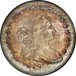 1798 Draped Bust Silver Dollar. Bowers Borckardt-82, Bolender-1. Rarity-3. Small Eagle, 13-Star Obve