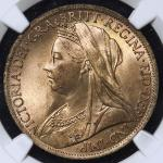 GREAT BRITAIN Victoria ヴィクトリア(1837~1901) Penny 1901 NGC-MS64RB UNC+