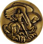 1991 Carnegie Corporation Appreciation Medal. Bronze. 102.2 mm. By Paul Manship. Murtha-335. About U