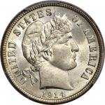 1914 Barber Dime. MS-67+ (PCGS). CAC.
