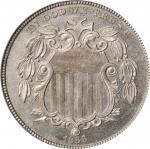 1866 Shield Nickel. Rays. Proof-64 (PCGS).