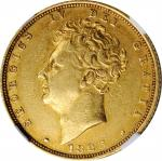 GREAT BRITAIN. Sovereign, 1825. London Mint. George IV. NGC EF-45.