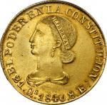 ECUADOR. 8 Escudos, 1840-QUITO MV. Quito Mint. PCGS MS-62 Gold Shield.