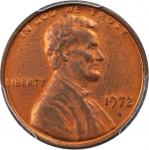 1972 Lincoln Cent. FS-101. Doubled Die Obverse. MS-63 RB (PCGS).
