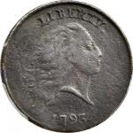 1793 Flowing Hair Cent. Chain Reverse. S-4. Rarity-3+. AMERICA, With Periods. EF Details--Environmen
