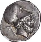 ITALY. Lucania. Metapontum. AR Stater (7.72 gms), ca. 340-330 B.C. NGC Ch EF, Strike: 4/5 Surface: 3