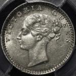 INDIA British India イギリス領インド 1/4Rupee 1840(M) PCGS-MS62 AU~UNC