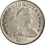 1807 Draped Bust Half Dollar. O-105. Rarity-1. AU-58 (PCGS). OGH.