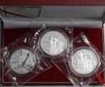 Volksrepublik seit 1949 3 X 10 Yuan Silber (1 Unze) 1999. 50 Jahre Volksrepublik China. 3. Ausgabe.