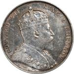 Straits Settlements, silver $1, 1907, Edward VII at obverse,extremely fine to about uncirculated