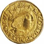 ITALY. Naples & Sicily. Ducat, ND (1458-94)-T. Ferdinando I of Aragon. PCGS MS-63 Gold Shield.