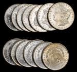 Lot of (13) 1885-O Morgan Silver Dollars. Average MS-60 to MS-62.