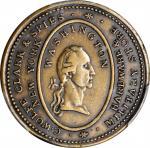 New York--New York. Undated (ca. 1829) C. Wolfe, Clark & Spies Token. Musante GW-118, Baker-588, Rul