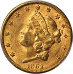 1863-S Liberty Head Double Eagle. MS-61 (PCGS). CAC.