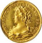 GERMANY. Brandenburg-Ansbach. Ducat, 1726. Schwabach Mint. Christiane Charlotte as Regent. PCGS MS-6