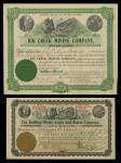 A Nice Assortment of Mining and Mineral Shares. Mounted in a red looseleaf album: Gold Leaf Mining (