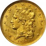 1838 Classic Head Half Eagle. McCloskey-1. MS-63 (NGC).