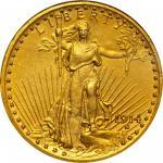 1914 Saint-Gaudens Double Eagle. Proof-62 (NGC).