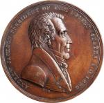 1829 Andrew Jackson Indian Peace Medal. Small Size. Bronzed Copper. 51 mm. Julian IP-16. Specimen-62
