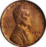1914-S Lincoln Cent. MS-64 RD (PCGS).