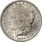 1880-CC Morgan Silver Dollar. VAM-7. Hit List 40. 8/7, Reverse of 1878. MS-65 (NGC). CAC.
