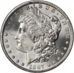 1887-S Morgan Silver Dollar. MS-65 (PCGS).