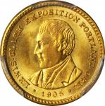 1905 Lewis and Clark Exposition Gold Dollar. MS-66 (PCGS).