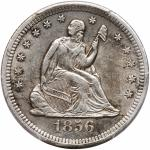 1856-S/S Liberty Seated Quarter Dollar