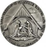 1960 (1979) Nativity. Silver. 73 mm. 242.3 grams. 999 fine. By Adlai S. Hardin. Alexander-SOM 62. Ed